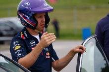 Infiniti's Director of Performance, Sebastian Vettel, delivers